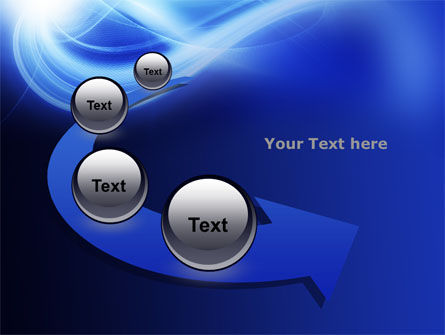 Blue Plume PowerPoint Template Slide 6