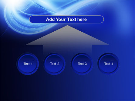 Blue Plume PowerPoint Template Slide 8