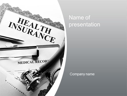 Financial/Accounting: Health Care Insurance PowerPoint Template #10542