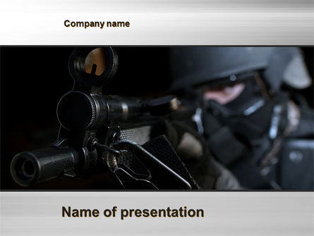 Commando PowerPoint Template, 10543, Military — PoweredTemplate.com