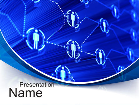 Social Network Concept PowerPoint Template, 10544, Technology and Science — PoweredTemplate.com