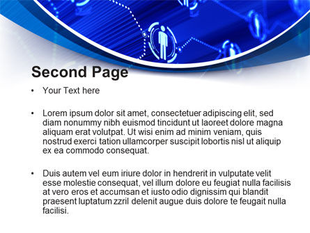 Social Network Concept PowerPoint Template, Slide 2, 10544, Technology and Science — PoweredTemplate.com