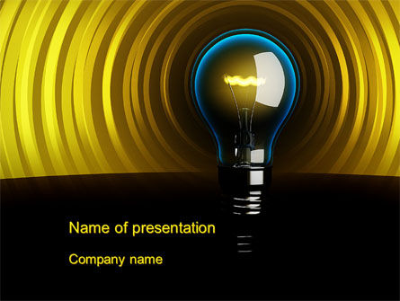 Business Concepts: Incandescent Lighting PowerPoint Template #10545