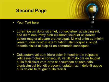 Incandescent Lighting PowerPoint Template, Slide 2, 10545, Business Concepts — PoweredTemplate.com