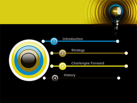 Incandescent Lighting PowerPoint Template, Slide 3, 10545, Business Concepts — PoweredTemplate.com