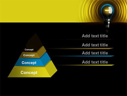 Incandescent Lighting PowerPoint Template, Slide 4, 10545, Business Concepts — PoweredTemplate.com