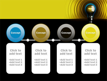 Incandescent Lighting PowerPoint Template Slide 5