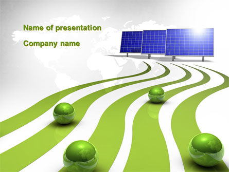 Green Energy Generation PowerPoint Template, 10548, Technology and Science — PoweredTemplate.com