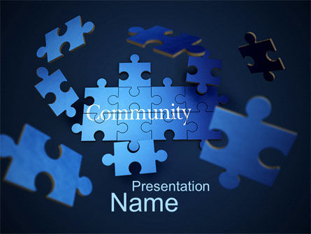 Building Community PowerPoint Template, 10550, Business Concepts — PoweredTemplate.com