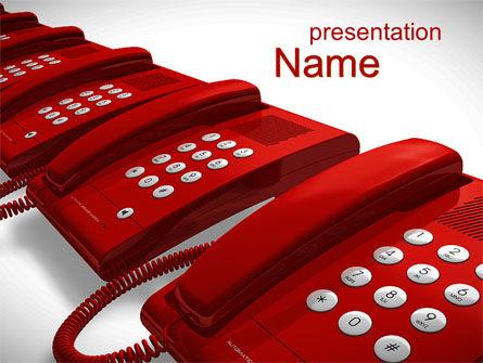 Telecommunication: Telefoon Diensten PowerPoint Template #10551