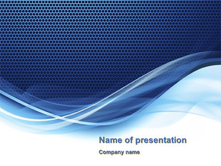 Grid and Wave PowerPoint Template, 10552, Abstract/Textures — PoweredTemplate.com