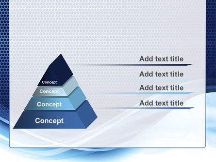 Grid and Wave PowerPoint Template Slide 12
