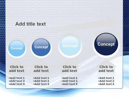 Grid and Wave PowerPoint Template Slide 13
