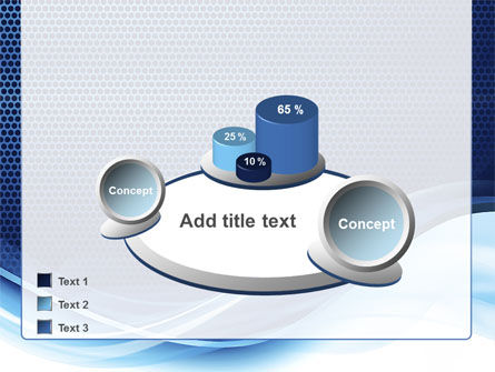 Grid and Wave PowerPoint Template Slide 16