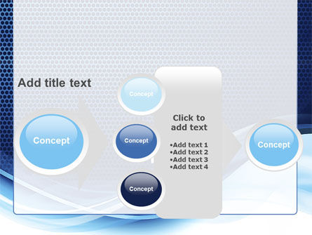 Grid and Wave PowerPoint Template Slide 17