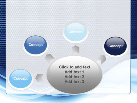 Grid and Wave PowerPoint Template Slide 7