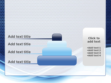 Grid and Wave PowerPoint Template Slide 8