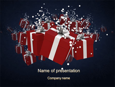 Holiday/Special Occasion: Gift Boxes PowerPoint Template #10554