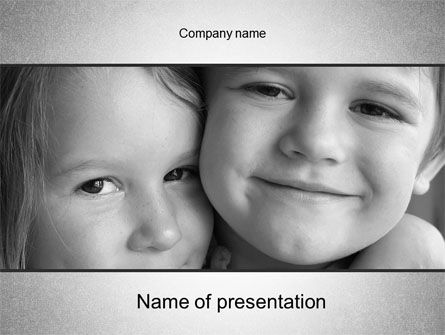 Brother Sister Love PowerPoint Template, 10555, People — PoweredTemplate.com