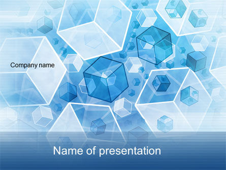 Cubes Pattern PowerPoint Template, 10556, Abstract/Textures — PoweredTemplate.com