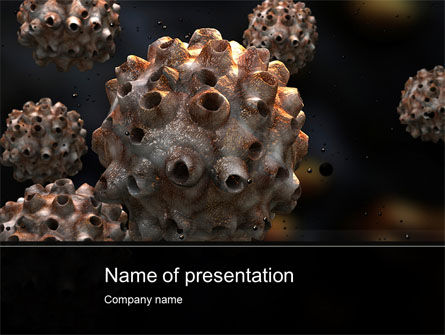 Medical: Virus Invasion PowerPoint Template #10558