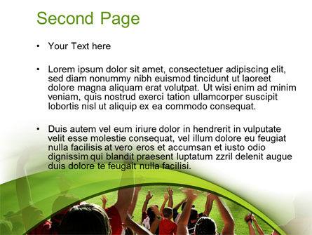 Football Fans PowerPoint Template, Slide 2, 10560, People — PoweredTemplate.com