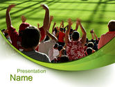 People: Football Fans PowerPoint Template #10560