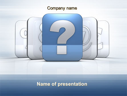 Education & Training: Question Icon PowerPoint Template #10561