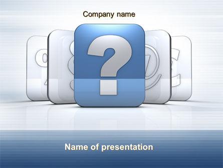 Education & Training: Templat PowerPoint Ikon Pertanyaan #10561