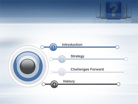 Question Icon PowerPoint Template, Slide 3, 10561, Education & Training — PoweredTemplate.com