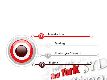 Destination New York PowerPoint Template, Slide 3, 10563, Business Concepts — PoweredTemplate.com