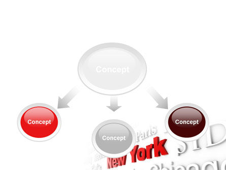 Destination New York PowerPoint Template, Slide 4, 10563, Business Concepts — PoweredTemplate.com