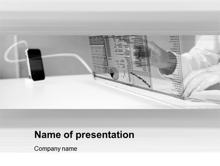 Technology and Science: High Tech Economy PowerPoint Template #10567