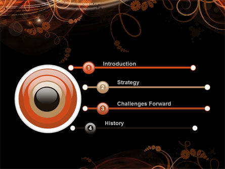 Fire Flowers PowerPoint Template Slide 3