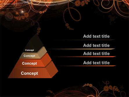 Fire Flowers PowerPoint Template, Slide 4, 10568, Abstract/Textures — PoweredTemplate.com