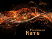 Abstract/Textures: Fire Flowers PowerPoint Template #10568