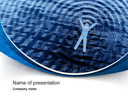 The Sea of Information PowerPoint Template, 10569, Technology and Science — PoweredTemplate.com