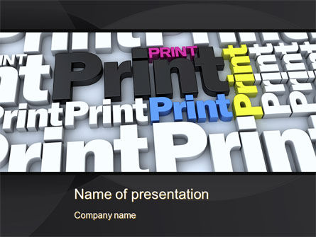 Careers/Industry: Print PowerPoint Template #10574