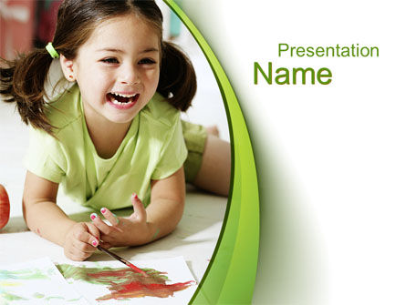 Young Artist PowerPoint Template, 10576, People — PoweredTemplate.com