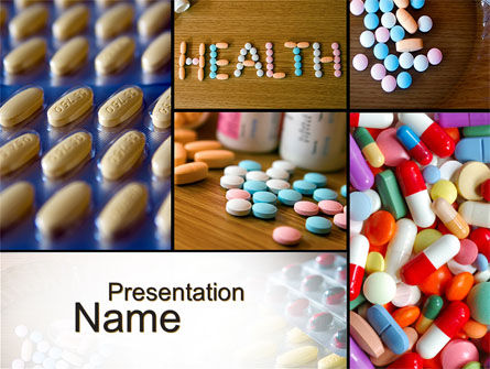 Medical: Modèle PowerPoint de pharmacologie clinique #10578