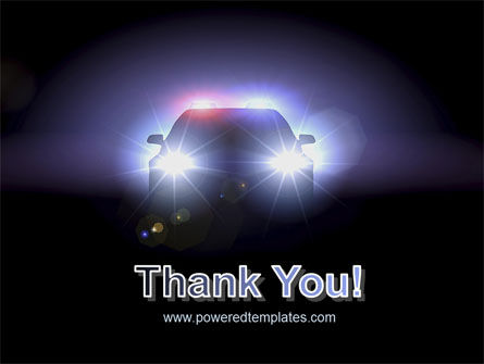 Police Car at Night PowerPoint Template Slide 20