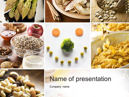 Proteins Fats and Carbohydrates PowerPoint Template, 10581, Food & Beverage — PoweredTemplate.com