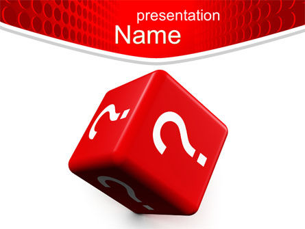 Question Cube PowerPoint Template, 10582, Consulting — PoweredTemplate.com