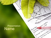 Nature & Environment: Front Yard Plan PowerPoint Template #10583