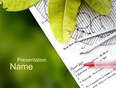 Nature & Environment: 前庭計画 - PowerPointテンプレート #10583