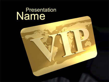 VIP Card PowerPoint Template