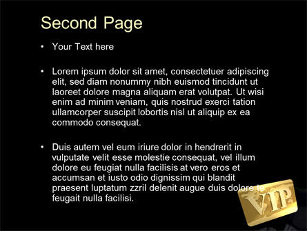 VIP Card PowerPoint Template Slide 2