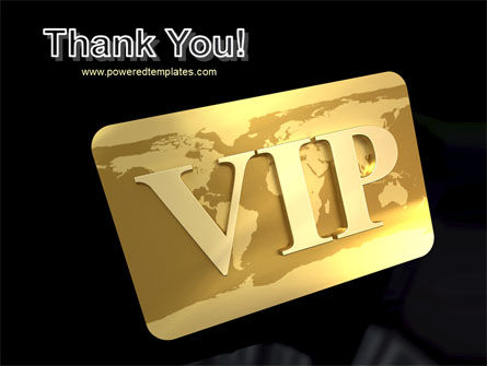 VIP Card PowerPoint Template Slide 20