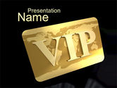 Careers/Industry: VIP Card PowerPoint Template #10584