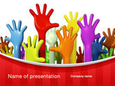 Religious/Spiritual: 3D Hands Up PowerPoint Template #10585